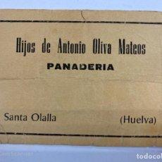 Monedas locales: VALE DE PAN DE PANADERIA HIJOS ANTONIO OLIVA MATEOS. SANTA OLALLA. HUELVA. VALE POR 4 KG DE PAN. Lote 190211165