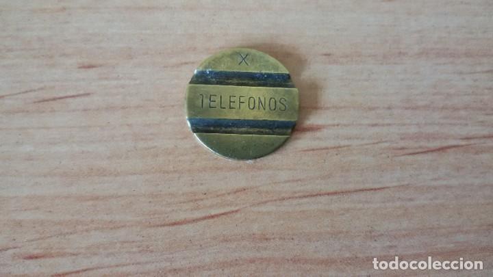 FICHA DE TELÉFONOS - LETRA X (Numismática - España Modernas y Contemporáneas - Locales y Fichas Dinerarias y Comerciales)