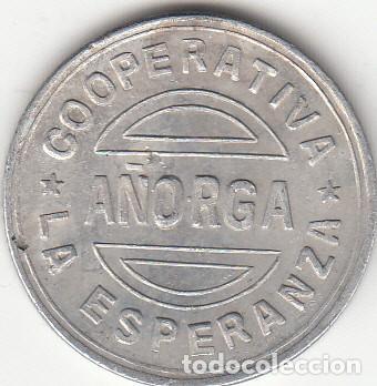 FICHA: 1 PESETA AÑORGA - PAIS VASCO (4) (Numismática - España Modernas y Contemporáneas - Locales y Fichas Dinerarias y Comerciales)
