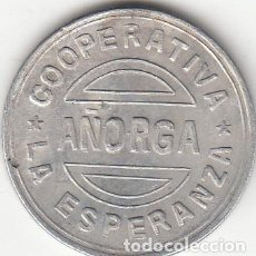 Monedas locales: FICHA: 1 PESETA AÑORGA - PAIS VASCO (4). Lote 193825927