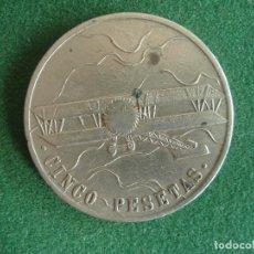 Monedas locales: FICHA AVIACIÓN CON VALOR 5 PESETAS.. Lote 194191527