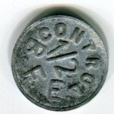Monedas locales: FICHA CONTROL B. F. E. 1/2 MARCA REGISTRADA. Lote 194235295