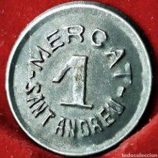 Monedas locales: 1 PESETA MERCAT DE SANT ANDREU. Lote 194382371