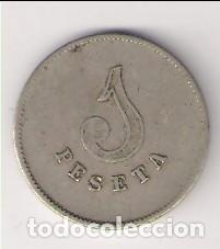 Monedas locales: FICHA DE PESETA DE LA COOPERATIVA MUTUA DE PAN DE MANLLEU. CATÁLOGO ANTONI LÓPEZ-2937. (C61) - Foto 2 - 194502350