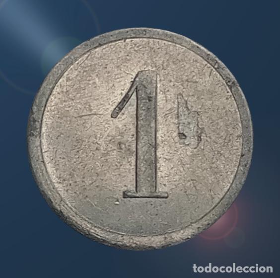 Monedas locales: 2 monedas N F con valores 1, 2 . France nouveau franc NF centimes ficha xxx - Foto 4 - 194587932