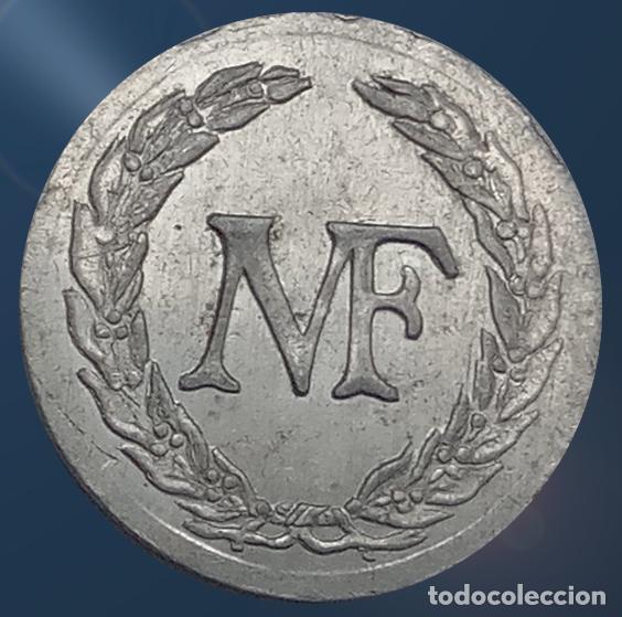 Monedas locales: 2 monedas N F con valores 1, 2 . France nouveau franc NF centimes ficha xxx - Foto 5 - 194587932