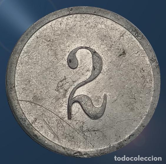 Monedas locales: 2 monedas N F con valores 1, 2 . France nouveau franc NF centimes ficha xxx - Foto 6 - 194587932