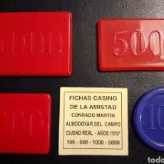 Monedas locales: LOTE FICHAS CASINO DE LA AMISTAD.. Lote 194588385