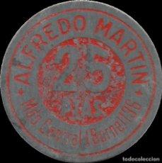 Monedas locales: FICHA DEL BORNE - ALFREDO MARTÍN - 25 PESETAS. Lote 194883781
