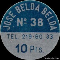 Monedas locales: FICHA DEL BORNE - JOSÉ BELDA BELDA - 10 PESETAS. Lote 194883826