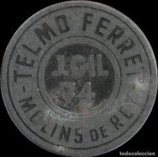 Monedas locales: FICHA DEL BORNE - TELMO FERRET - 3 PESETAS. Lote 194883935