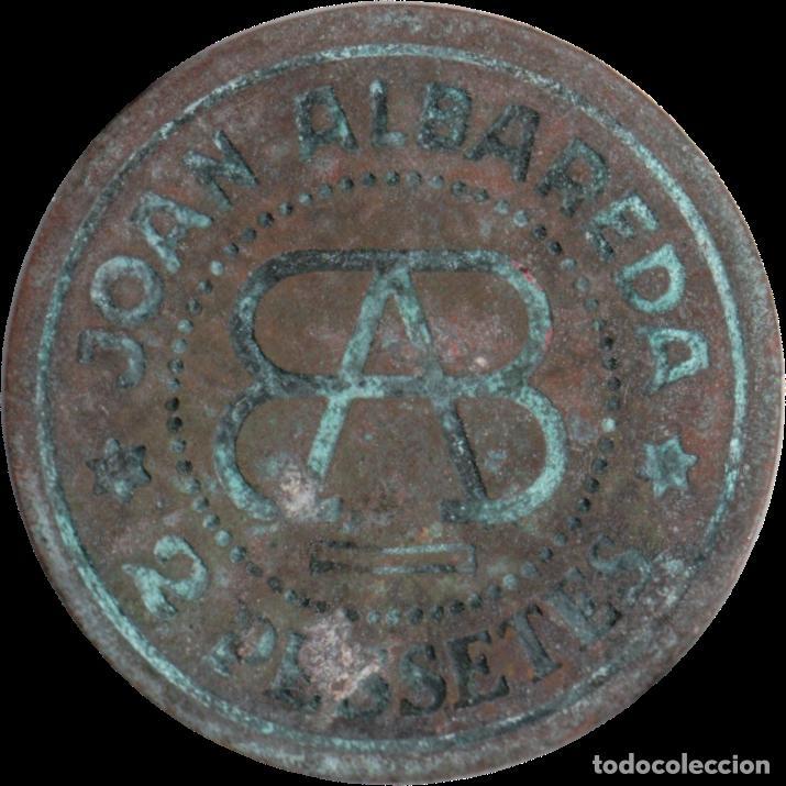 FICHA DEL BORNE - JOAN ALBAREDA - 2 PESETAS (Numismática - España Modernas y Contemporáneas - Locales y Fichas Dinerarias y Comerciales)