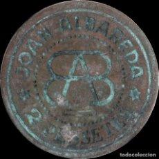 Monedas locales: FICHA DEL BORNE - JOAN ALBAREDA - 2 PESETAS. Lote 194884021