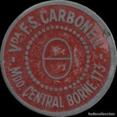 Monedas locales: FICHA DEL BORNE - VIUDA DE F.S. CARBONELL. Lote 194884051