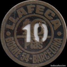 Monedas locales: FICHA DEL BORNE - LLAFECA - 10 PESETAS. Lote 194884302
