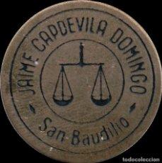 Monedas locales: FICHA DEL BORNE - JAIME CAPDEVILA DOMINGO. Lote 194888096