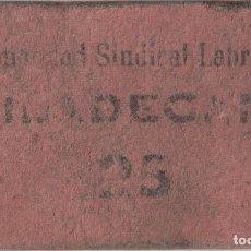 Monedas locales: BORNE - HERMANDAD SINDICAL DE LABRADORES - VILADECANS - 25 PESETAS. Lote 194892811