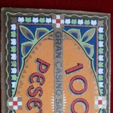 Monedas locales: FICHA CASINO SAN SEBASTIÁN. Lote 194991070