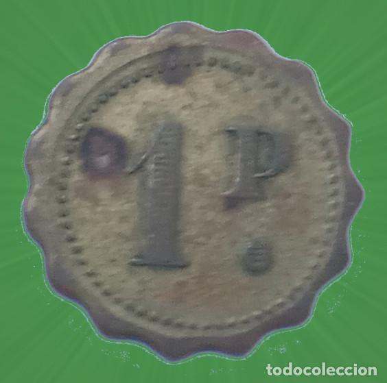 BONITA FICHA CON FORMA DE FLOR 1 P PUNTO CASINO MERCADO MONEDA XXX (Numismática - España Modernas y Contemporáneas - Locales y Fichas Dinerarias y Comerciales)