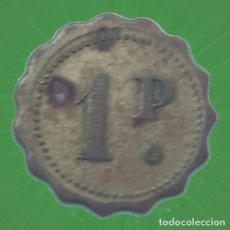 Monedas locales: BONITA FICHA CON FORMA DE FLOR 1 P PUNTO CASINO MERCADO MONEDA XXX. Lote 195037303