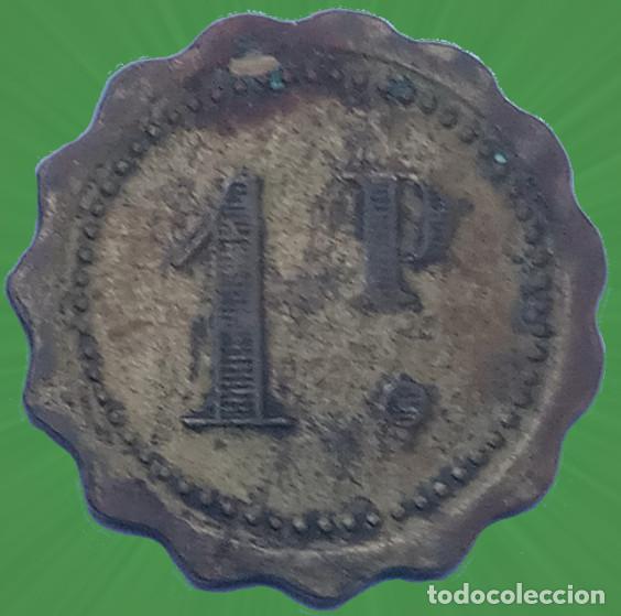 Monedas locales: Bonita ficha con forma de flor 1 P punto Casino Mercado Moneda xxx - Foto 2 - 195037303