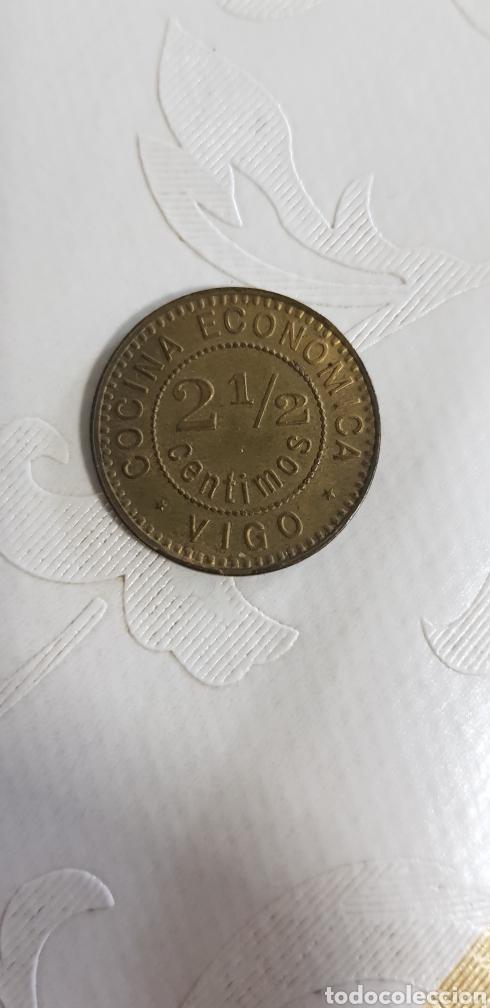Monedas locales: RARA MONEDA COCINA ECONOMICA VIGO 2.5 CTS BENEFICENCIA BUENISIMA CONSERVACION - Foto 3 - 195208093