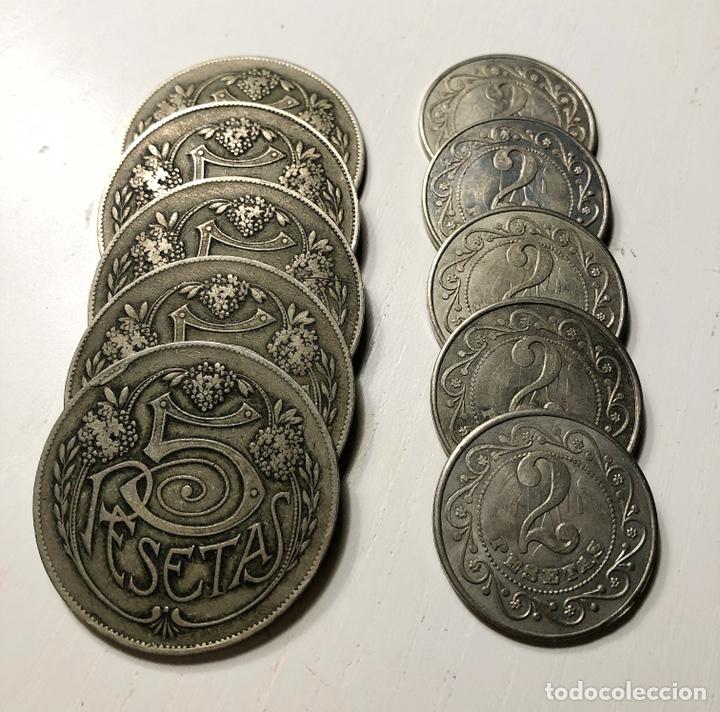 FICHAS CASINO ANTIGUAS (LOTE 10 UNIDADES) (Numismática - España Modernas y Contemporáneas - Locales y Fichas Dinerarias y Comerciales)
