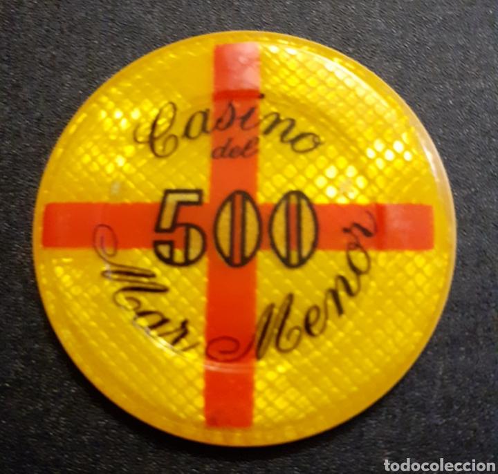 FICHA CASINO DEL MAR MENOR 500 PTS (Numismática - España Modernas y Contemporáneas - Locales y Fichas Dinerarias y Comerciales)