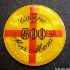 Monedas locales: FICHA CASINO DEL MAR MENOR 500 PTS. Lote 195292166