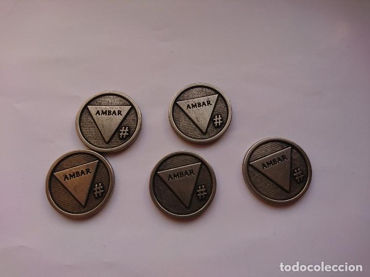 5 TOKENS CERVEZA ÁMBAR ZARAGOZA (Numismática - España Modernas y Contemporáneas - Locales y Fichas Dinerarias y Comerciales)