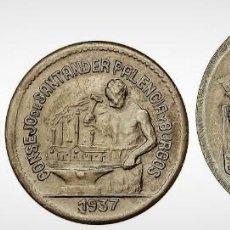 Monedas locales: SERIE 3 MONEDAS 50 CÉNTIMOS (2) Y 1 PESETA. 1937. CONSEJO DE SANTANDER, PALENCIA Y BURGOS. Lote 195414236
