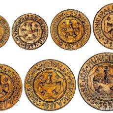 Monedas locales: SERIE 7 MONEDAS 5 CÉNTIMOS A 2,50 PESETAS. 1937. C.M. DE MENORCA.INC LAS VARIANTES DE 5 Y 25 CTMS.. Lote 195415081