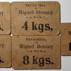 Monedas locales: VALES DE PAN DE MIGUEL BONANY - LA PERA - GIRONA. Lote 195502998