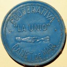 Monedas locales: AL413 - COOPERATIVA LA UNIÓ - CANET DE MAR - 5 PESETAS. Lote 195503150