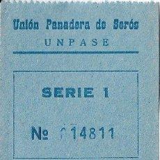 Monnaies locales: VALE 1 PESETA UNION PANADERA DE SEROS (LERIDA) SERIE 1 Nº014811. Lote 195777680