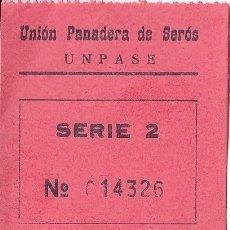 Monnaies locales: VALE 5 PESETAS UNION PANADERA DE SEROS (LERIDA) SERIE 2 Nº014326. Lote 195778136