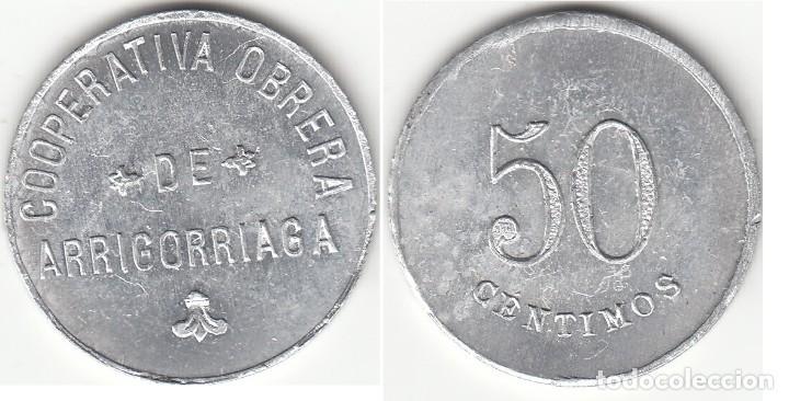 FICHA: 50 CENTIMOS COOPERATIVA OBRERA DE ARRIGORRIAGA ( VIZCAYA ) (Numismática - España Modernas y Contemporáneas - Locales y Fichas Dinerarias y Comerciales)