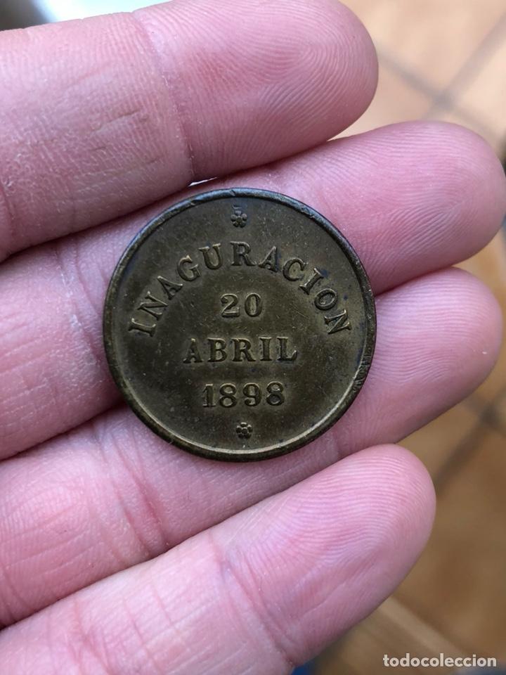 Monedas locales: Antigua ficha cocinas económicas de ronda 1898, EBC - Foto 2 - 197446570