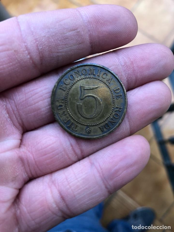 Monedas locales: Antigua ficha cocinas económicas de ronda 1898, EBC - Foto 4 - 197446570