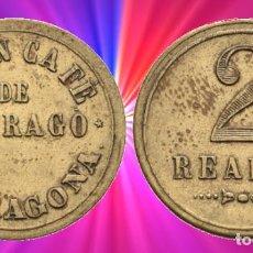 Monedas locales: 2 REALES TARRAGONA. 3,45 G. GRAN CAFÉ DE TARRAGO. EBC- GUERRA CIVIL, FICHA MONEDA XXX. Lote 198513558