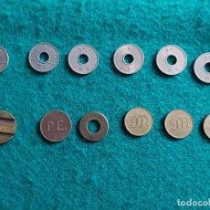 Monedas locales: LOTE DE 12 FICHAS DIVERSAS CALIDADES. Lote 199311362