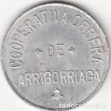 Monedas locales: FICHA: 2 PESETAS COOPERATIVA OBRERA DE ARRIGORRIAGA - VIZCAYA - PAIS VASCO. Lote 199493486
