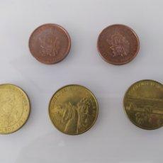 Monedas locales: MEDALLAS MONEDAS CONMEMORATIVAS.FNMT DOS DE JUVENALIA 80-81, TRES DE CHATEAU DE VERSALLES , PARIS. Lote 199531825