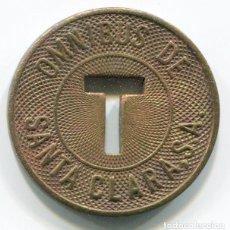 Monedas locales: FICHA DE OMNIBUS DE SANTA CLARA - CUBA - AÑOS 50 RARA. Lote 200065153