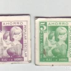 Monedas locales: 1 Y 5 PESETAS - VALES DINERARIOS DE AHORRO POPULAR Y ESCOLAR - CAJA DE PENSIONES (LA CAIXA). Lote 200130582