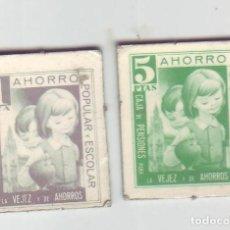 Monedas locales: 1 Y 5 PESETAS - VALES DINERARIOS DE AHORRO POPULAR Y ESCOLAR - CAJA DE PENSIONES (LA CAIXA). Lote 200130597