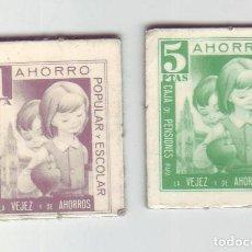 Monedas locales: 1 Y 5 PESETAS - VALES DINERARIOS DE AHORRO POPULAR Y ESCOLAR - CAJA DE PENSIONES (LA CAIXA). Lote 200130608
