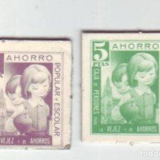 Monedas locales: 1 Y 5 PESETAS - VALES DINERARIOS DE AHORRO POPULAR Y ESCOLAR - CAJA DE PENSIONES (LA CAIXA). Lote 200130618