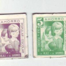 Monedas locales: 1 Y 5 PESETAS - VALES DINERARIOS DE AHORRO POPULAR Y ESCOLAR - CAJA DE PENSIONES (LA CAIXA). Lote 200130631