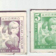 Monedas locales: 1 Y 5 PESETAS - VALES DINERARIOS DE AHORRO POPULAR Y ESCOLAR - CAJA DE PENSIONES (LA CAIXA). Lote 200130648
